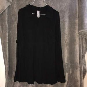 4/$20 Pure Energy Black Tunic Blouse 2X